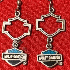 Vintage Harley Davidson Earrings